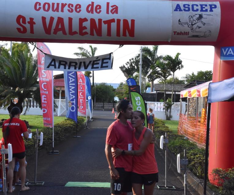 C'est la deuxième fois que le duo mère-fils Papaura s'aligne sur la course de la Saint-Valentin.