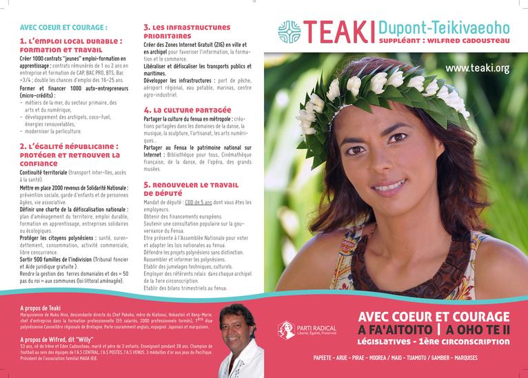 Profession de foi de Teaki Dupont Teikivaeono