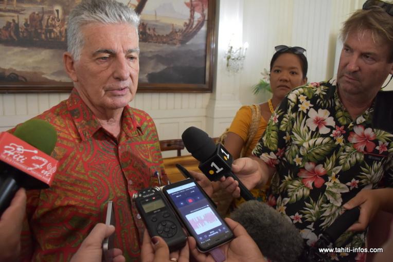 """""""Je dis et je répète qu'il n'y a pas de cas d'infection au coronavirus à ce jour, en Polynésie française"""", a martelé le ministre de la Santé lundi."""