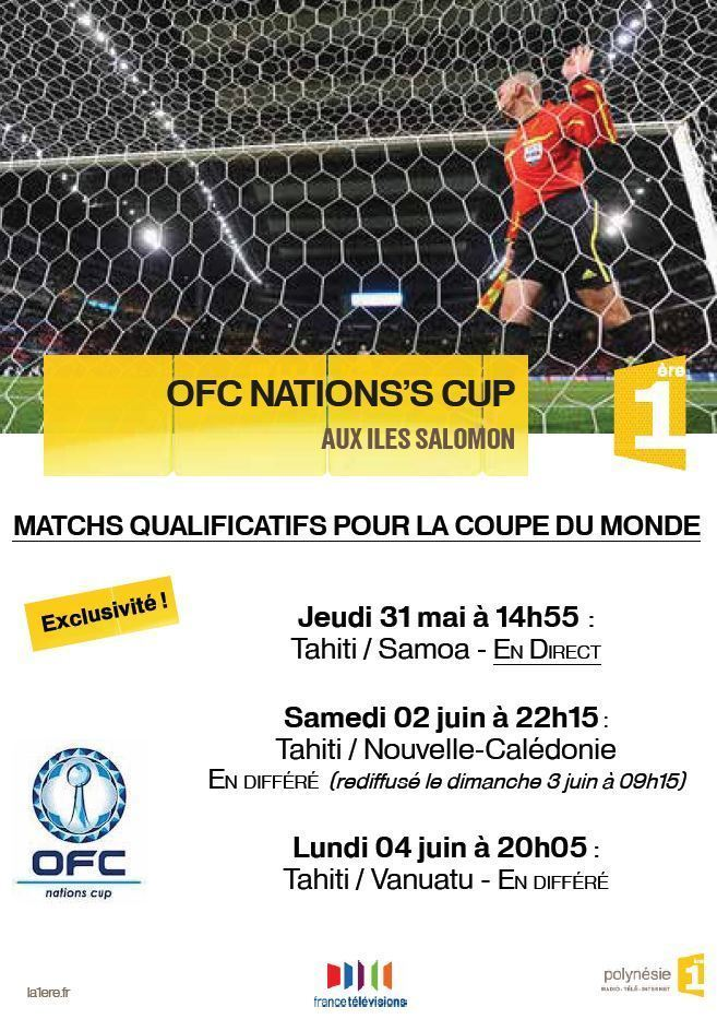 OFC NATIONS'S CUP AUX iles Salomon sur Polynésie 1ère