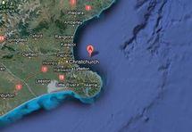 Fort séisme au large de Christchurch