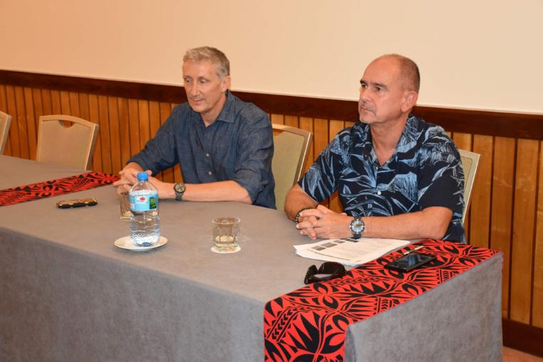 Michel Galtier et Didier Bondoux ont représenté le syndicat des médecins libéraux de Polynésie française.