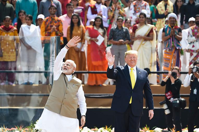 """""""Namaste Trump"""": show bouillant pour le président américain en Inde"""