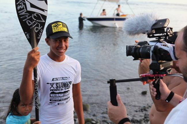 Poenaiki RAIOHA, 15 ans, deuxième au SAPINUS PRO (Stand up paddle)