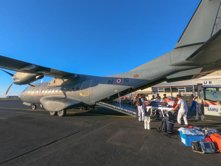 L'un des deux avions Casa de transport tactique de l'armée de l'Air en Polynésie française.