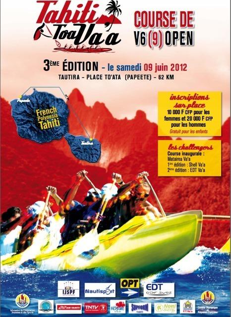 Tahiti Toa Va'a Race:  départ le Samedi 09 juin à10 h de Tautira