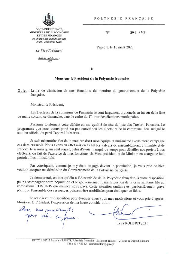 Fritch refuse la démission de Rohfritsch