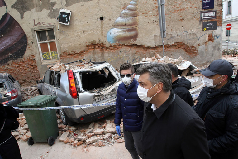 Croatie: un séisme frappe Zagreb, importants dégâts matériels