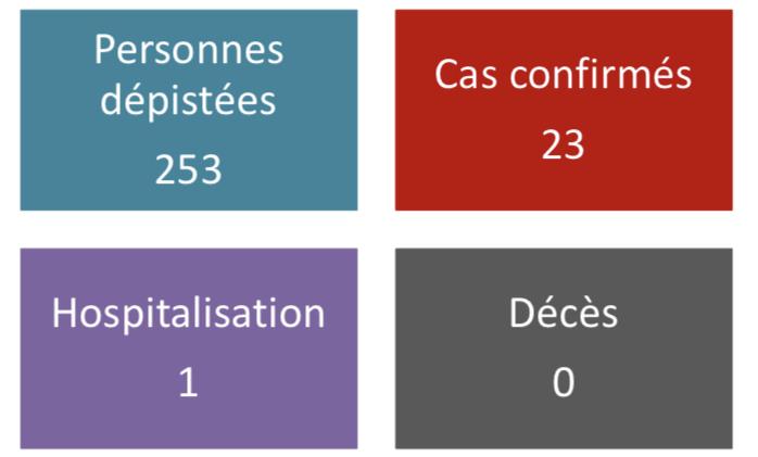Vingt-trois cas confirmés au fenua