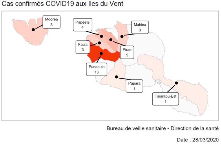 Premiers cas de Covid-19 à Rangiroa et à la Presqu'île