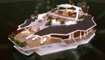 """Mieux qu'un yacht, une véritable """"île"""" flottante pour vacanciers richissimes"""