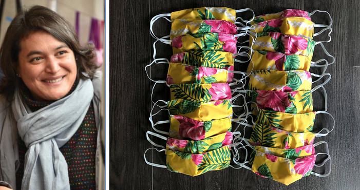 Députée polynésienne de l'Essonne cherche masques aux motifs locaux
