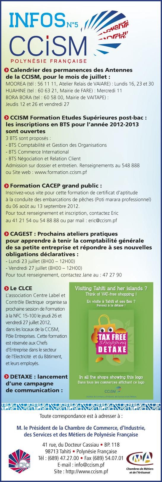Infos CCISM N°5