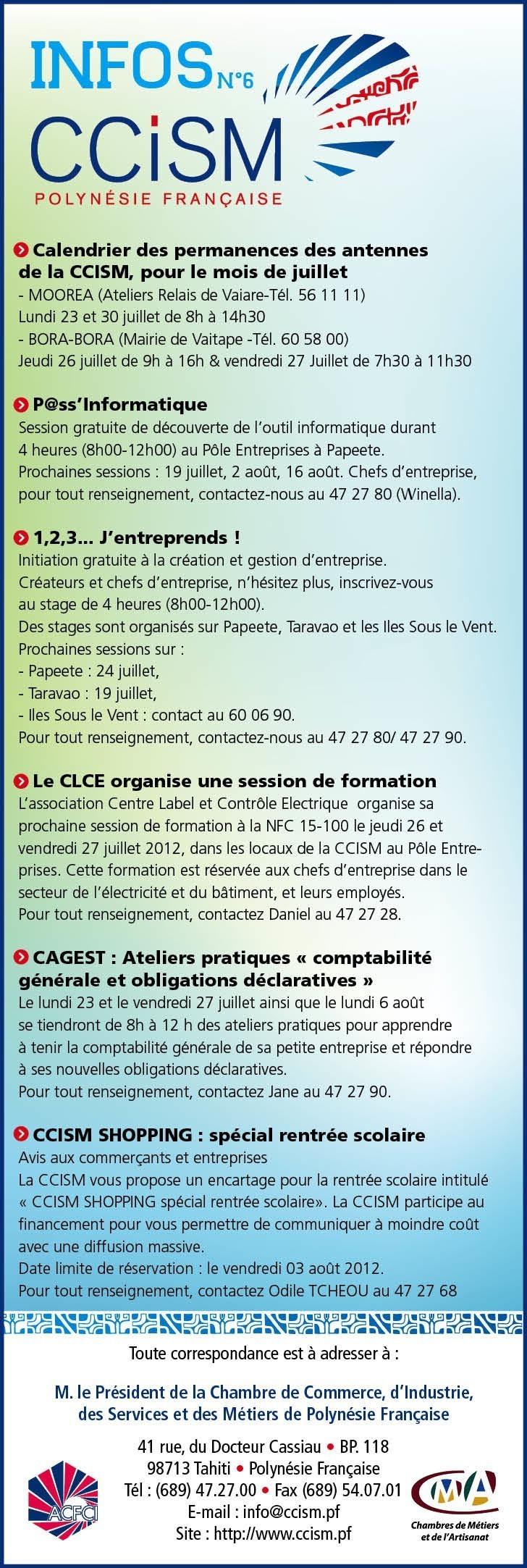 Infos CCISM N°6