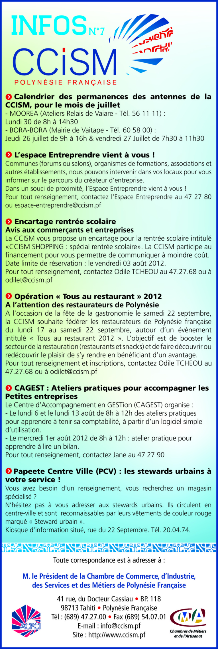 Infos CCISM N°7