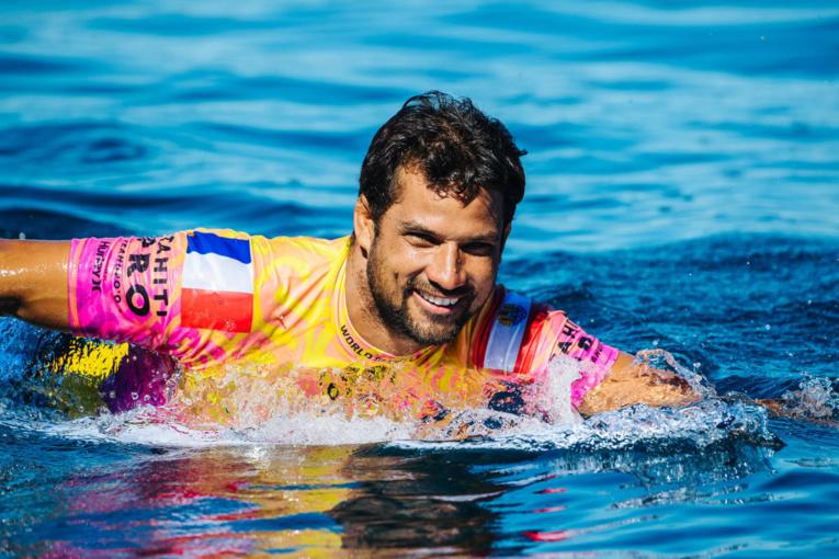 Michel Bourez entame cette année sa 12ème saison sur le Championship Tour, l'élite du surf mondial. Mais pour le moment les compétitions de la World Surf League sont toujours suspendus. (© WSL / MATT DUNBAR)