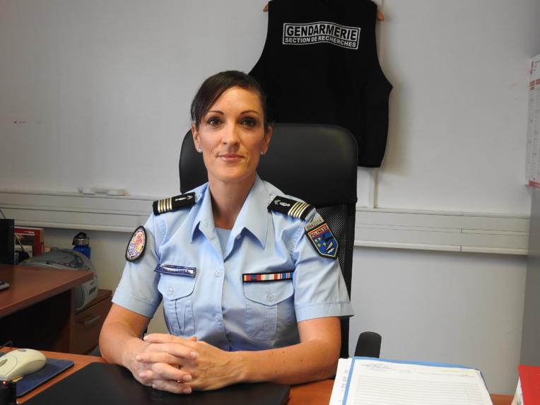 Le lieutenant-colonel Christelle Tarrolle, commandant de la Section de recherches (SR) de Papeete