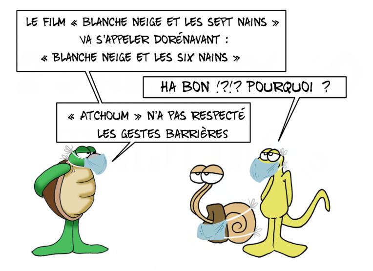 """""""Blanche-Neige et les six nains"""", par Munoz"""