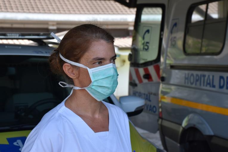 Docteur Hélène Pujol, médecin mobilisée au sein de la cellule covid-19 à l'hôpital de Taravao.