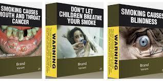 Les emballages d'un vert olivâtre sombre et couverts d'avertissements choc porteront comme seul élément distinctif la marque