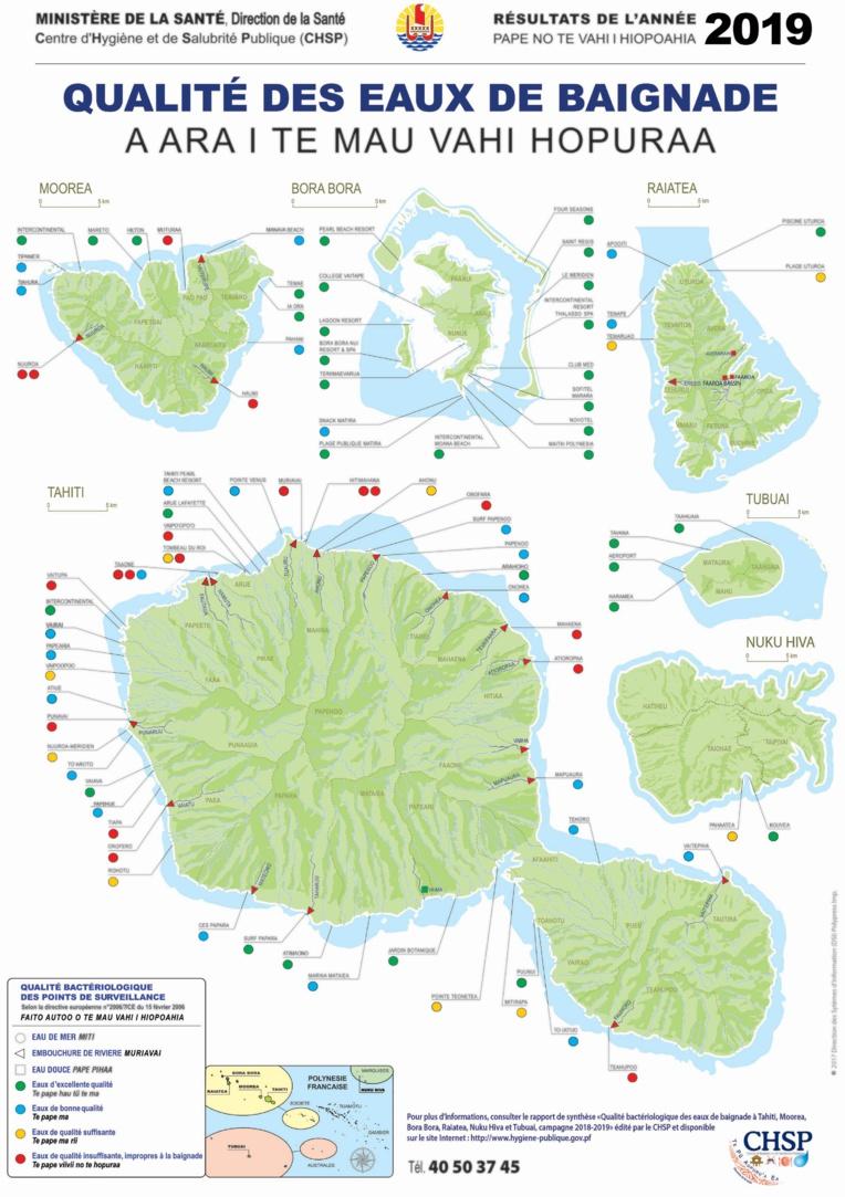 Un tiers des spots de Tahiti impropres à la baignade