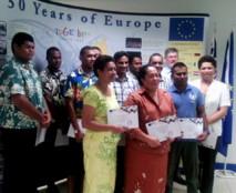 La cuvée 2012 des étudiants océaniens en partance pour l'Europe dans le cadre du programme Erasmus Mundi.