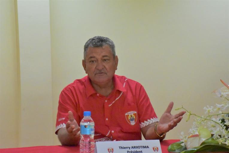 Thierry Ariiotima, président de la Fédération tahitienne de football.