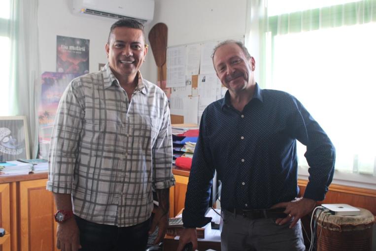 Fabien Dinard, directeur du CAPF et Frédéric Cibard, chargé de communication (à droite).