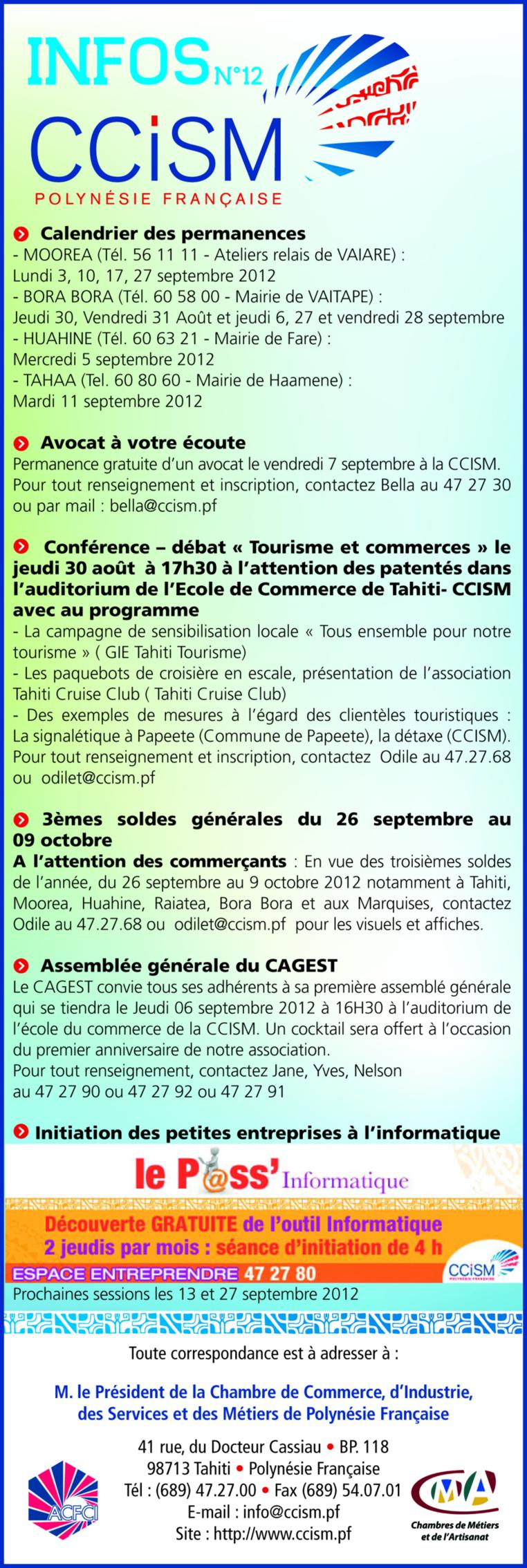 Infos CCISM N°12