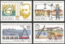 Nauru, en 1975, au moment où l'île était prospère, rendit hommage à Albert Ellis et aux acteurs du succès que représenta le phosphate pendant presque un siècle.