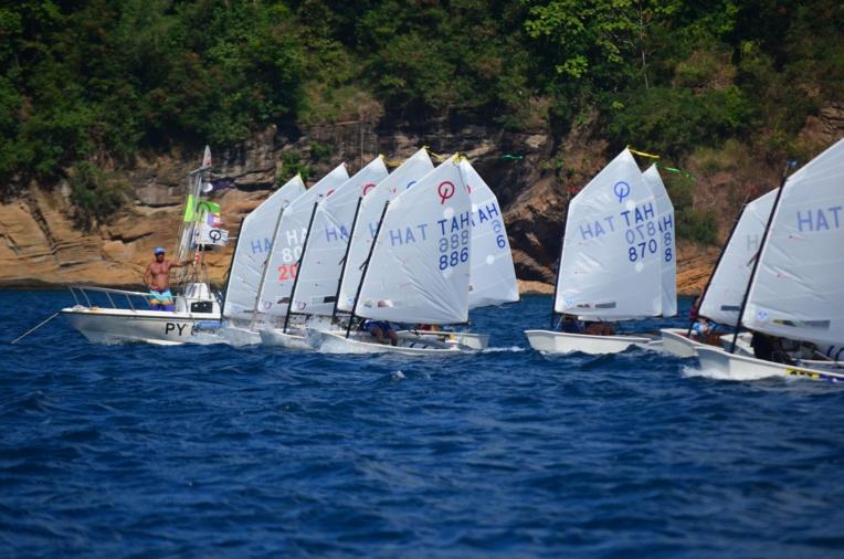 Quinze skippers, âgés de 9 à 15 ans, se sont affrontés de samedi à lundi sur onze manches. (Photo : Benjamin Prioux)