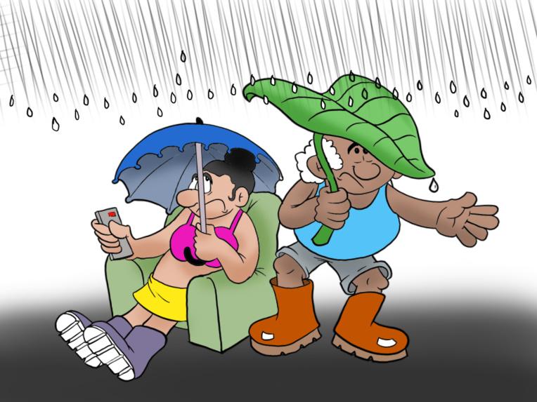 """Il pleut il pleut"", par Munoz"