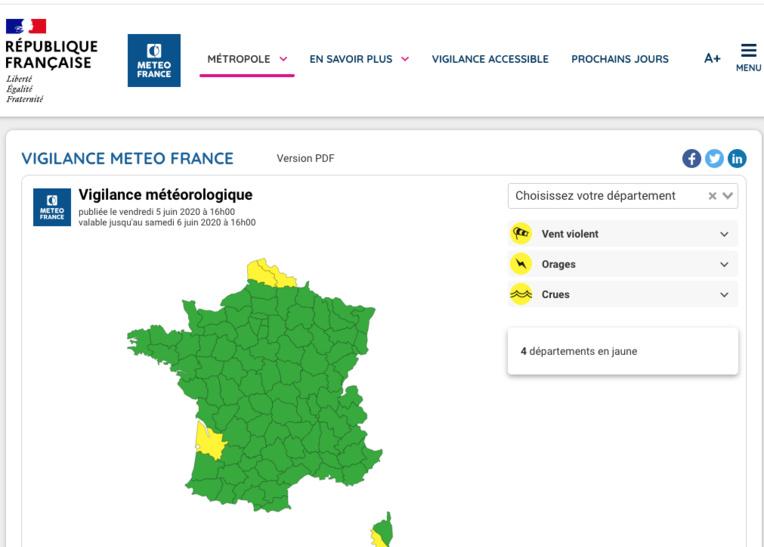 Météo-France lance un nouveau site dédié aux phénomènes dangereux