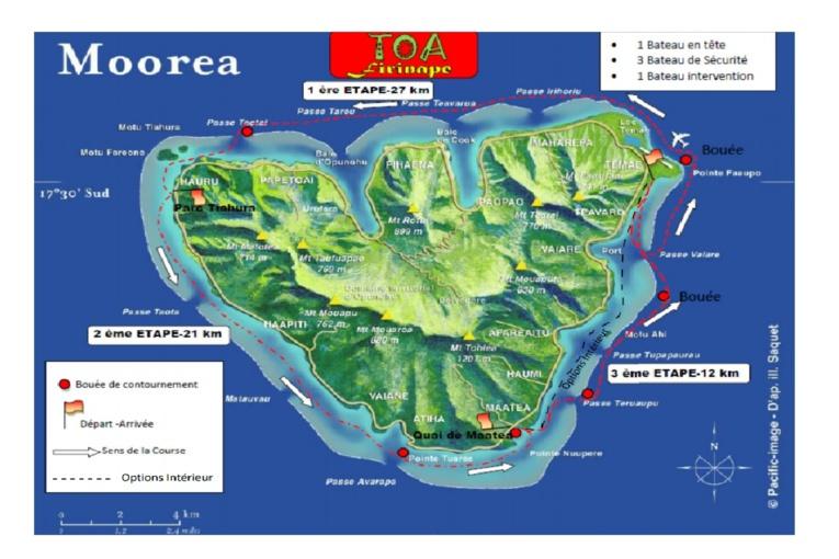 Les 'aito parcourront une distance totale de 60 km sur les trois étapes de la Toa Firinape.