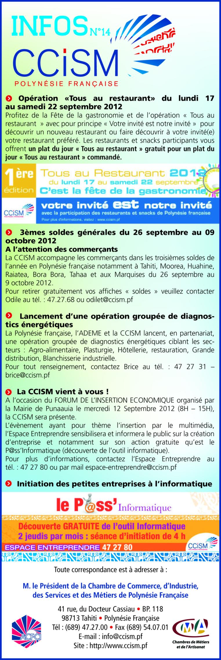 Infos CCISM N°14