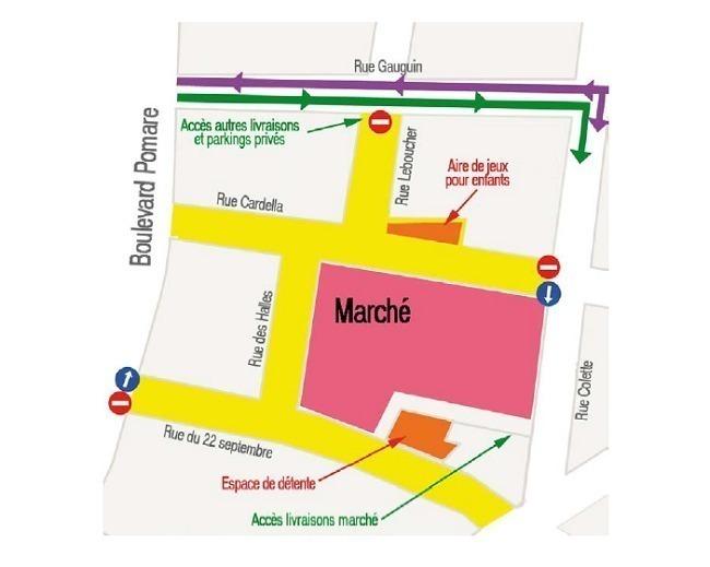 Papeete : le quartier du marché piéton dès dimanche soir et pour toute la semaine