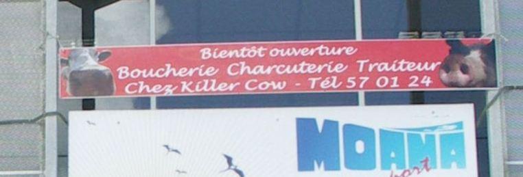 """Insolite: A Taravao, ouverture prochaine de la boucherie """"Killer Cow"""""""