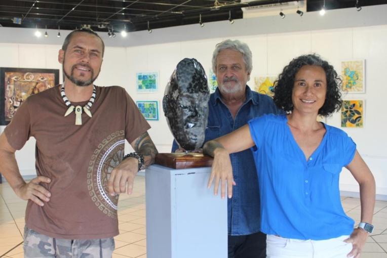 Teva Victor, Patrick Guichard et Miriama Bono.