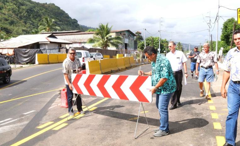 Le pont de Maruapo désormais ouvert à la circulation