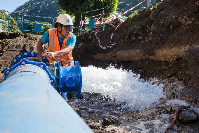 Huit semaines de travaux sur le réseau d'eau à Tipaerui