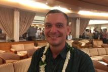 Le nouveau président du Cluster, Tuanua Degage.