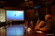 Teva Rohfritsch et Romuald Montagnon ont présenté ensemble la vidéo de sensibilisation aux accidents de pêche sous-marine à la presse hier après-midi.