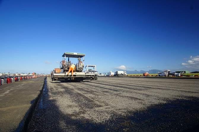 Des travaux pour sécuriser le tarmac de l'aéroport de Tahiti Faa'a