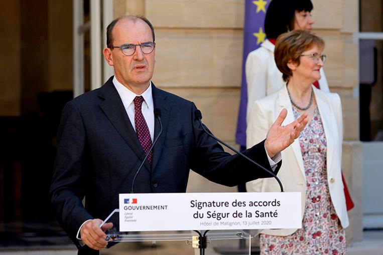 """Les accords du """"Ségur de la santé"""" signés, Castex salue un moment """"historique"""""""