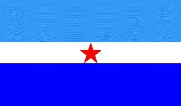 Le drapeau de Makatea créé en août 2012 avec Colin Randall.