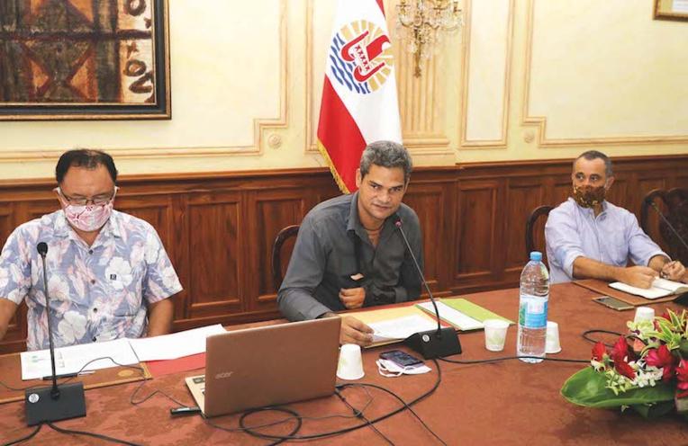 Teiva Manutahi jeudi lors de la présentation de la feuille de route de la Délégation pour la prévention de la délinquance de la jeunesse.