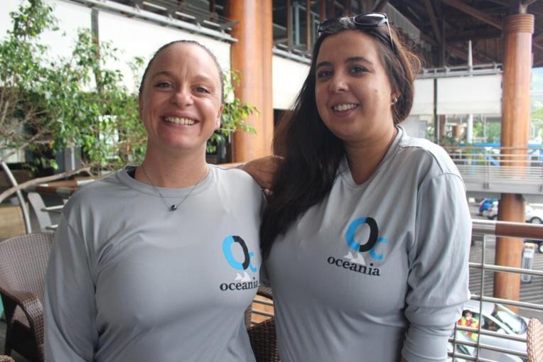 Charlotte Esposito (à gauche) et Malau Lemonnier de l'association Oceania.