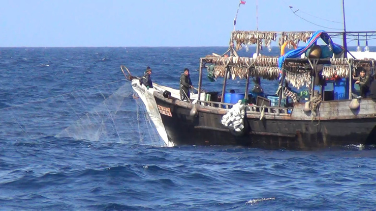 Des centaines de bateaux chinois pêchent illégalement en Corée du Nord