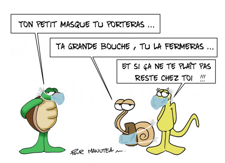 """Masque obligatoire"", par Munoz"