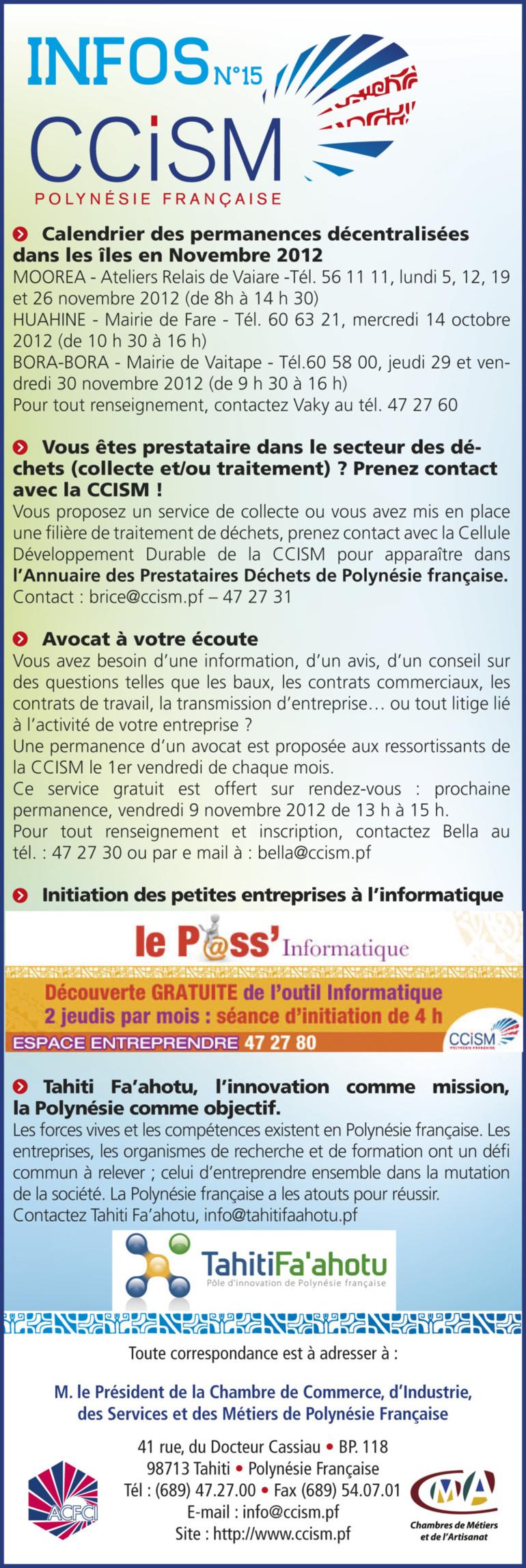 Infos CCISM N°15